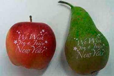 impresión de fruta